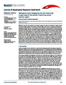 Radiogenic helium degassing and rock fracturing - Wiley Online Library
