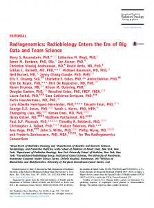 Radiogenomics - International Journal of Radiation Oncology ...