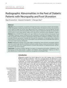 Radiographic Abnormalities in the Feet of Diabetic