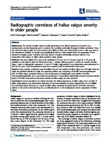 Radiographic correlates of hallux valgus severity in older people ...