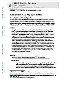 Radioiodination of Aryl-Alkyl Cyclic Sulfates