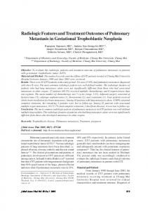 Radiologic Features and Treatment Outcomes of ... - ThaiScience