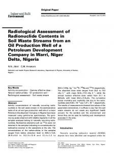 Radiological Assessment of Radionuclide Contents ... - SAGE Journals
