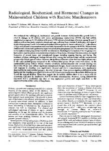 Radiological, Biochemical, and Hormonal Changes ... - Oxford Journals