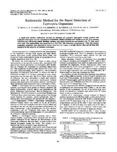 Radiometric Method for the Rapid Detection of - Journal of Clinical ...