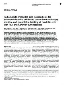 Radionuclide-embedded gold nanoparticles for ... - Semantic Scholar