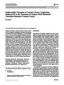 Radionuclide Therapies in Prostate Cancer ... - Semantic Scholar