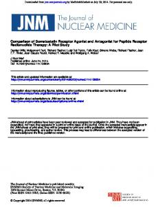Radionuclide Therapy: A Pilot Study Comparison of