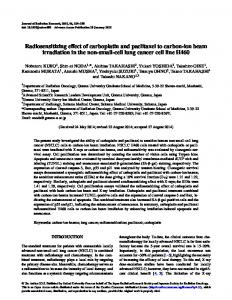 Radiosensitizing effect of carboplatin and ... - Semantic Scholar