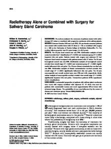 Radiotherapy alone or combined with surgery ... - Wiley Online Library