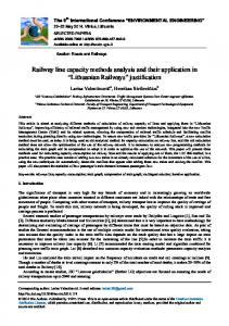 Railway line capacity methods analysis and their application in