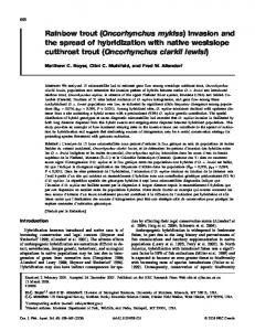Rainbow trout (Oncorhynchus mykiss) - Canadian Science Publishing