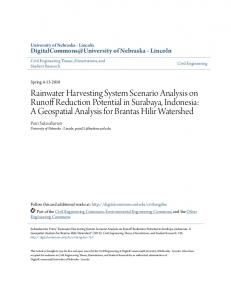 Rainwater Harvesting System Scenario Analysis on