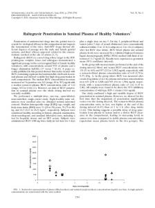 Raltegravir Penetration in Seminal Plasma of Healthy Volunteers