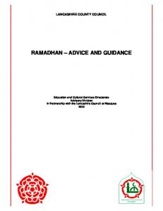 ramadhan – advice and guidance