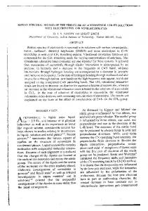 RAMAN SPECTRAL STUDIES ON THE STRUCTURE OF ...