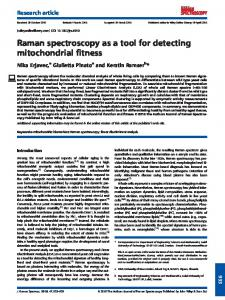 Raman spectroscopy as a tool for detecting ... - Wiley Online Library