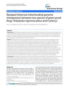 Rampant historical mitochondrial genome ... - ScienceOpen