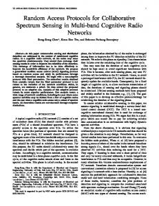Random Access Protocols for Collaborative Spectrum ... - ece.utah.edu