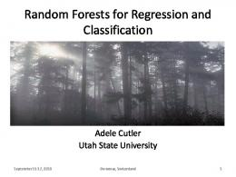 Random Forests for Classification and Regression