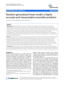 Random generalized linear model: a highly accurate and interpretable ...