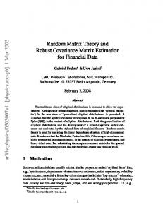 Random matrix theory and robust covariance matrix estimation for ...