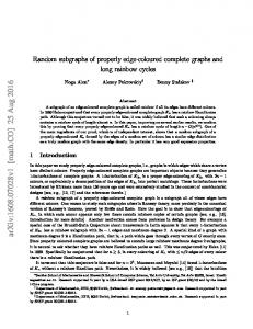Random subgraphs of properly edge-coloured complete graphs and ...