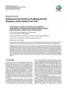 Random survival forests for predicting the bed occupancy in the ...