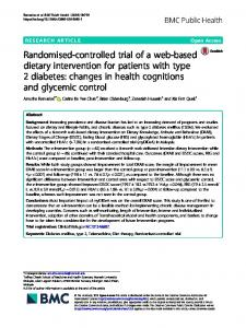 Randomised-controlled trial of a web-based ... - BMC Public Health