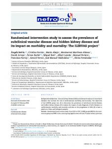 Randomised intervention study to assess the ...