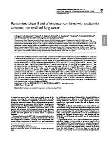 Randomised phase III trial of irinotecan combined ... - BioMedSearch