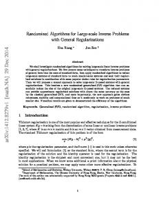 Randomized Algorithms for Large-scale Inverse Problems with