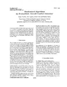 Randomized algorithms for probabilistic aircraft