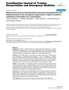 Randomized clinical trial of bedside ultrasound among patients with ...
