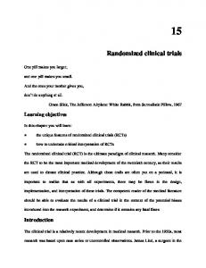 Randomized clinical trials - CEBM