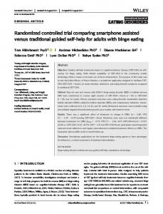 Randomized controlled trial comparing smartphone