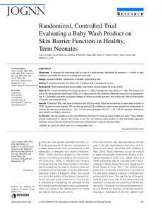 Randomized, Controlled Trial Evaluating a Baby ... - BioMedSearch