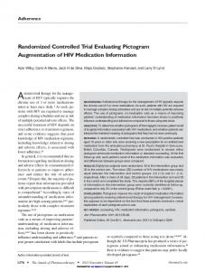 Randomized Controlled Trial Evaluating Pictogram