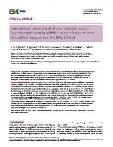 Randomized phase III trial of low-molecular-weight ... - Oxford Journals