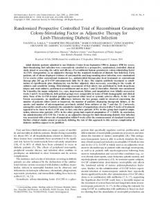 Randomized Prospective Controlled Trial of Recombinant Granulocyte ...