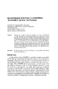 Randomized Routing Algorithms in Mobile Ad Hoc Networks ...