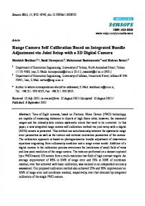 Range Camera Self-Calibration Based on Integrated Bundle ... - MDPI