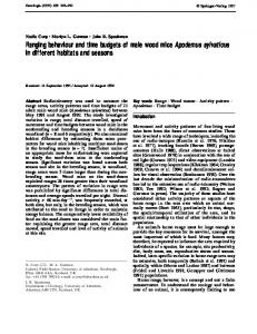 Ranging behaviour and time budgets of male wood ... - Springer Link