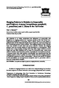 Ranging Patterns in Relation to Seasonality and ... - Springer Link