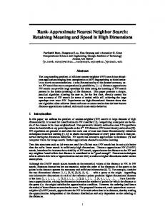 Rank-Approximate Nearest Neighbor Search - mlpack