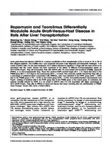 Rapamycin and tacrolimus differentially ... - Wiley Online Library