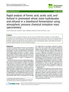 Rapid analysis of formic acid, acetic acid, and