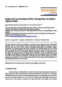 Rapid and Green Synthesis of Silver Nanoparticles via Sodium ...