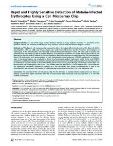 Rapid and Highly Sensitive Detection of Malaria ... - Semantic Scholar