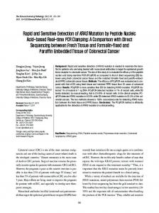 Rapid and Sensitive Detection of KRAS Mutation by Peptide Nucleic ...